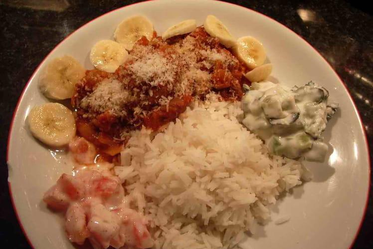 Curry de porc et d'agneau