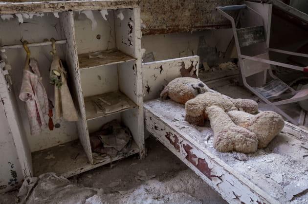 Une chambre d'enfant laissée à l'abandon