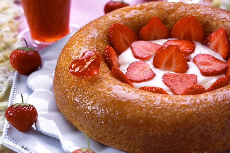 Baba aux fraises
