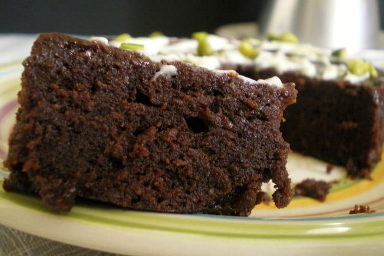Brownie chocolat pistache au micro-ondes