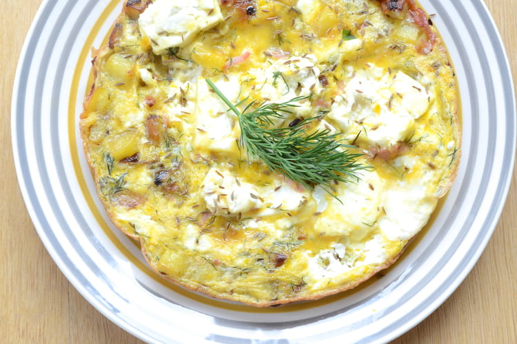 Tortilla aux pommes de terre et féta