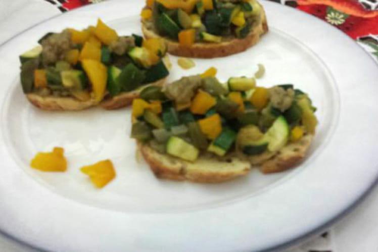 Tartines aux légumes du soleil