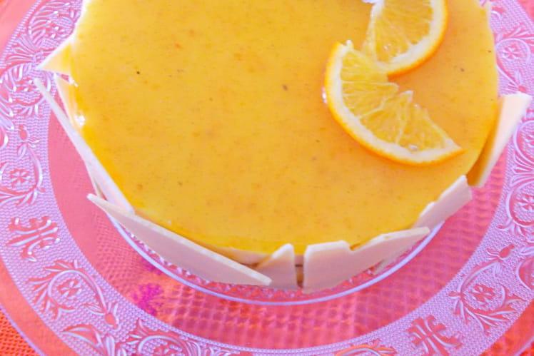 Entremets satine façon cheesecake à l'orange de Pierre Hermé