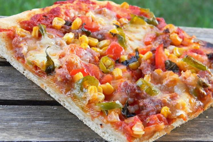 Pizza mexicaine à la chair à saucisse