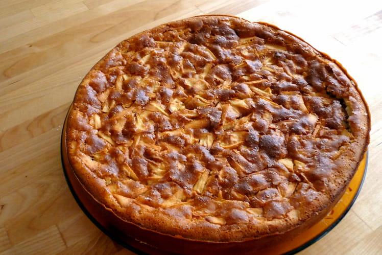 Gâteau au yaourt et pommes léger