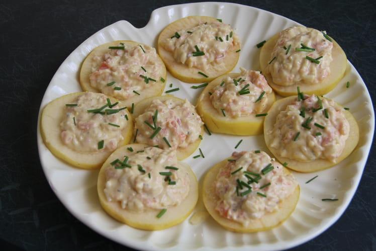 Pommes Limousines au saumon fumé