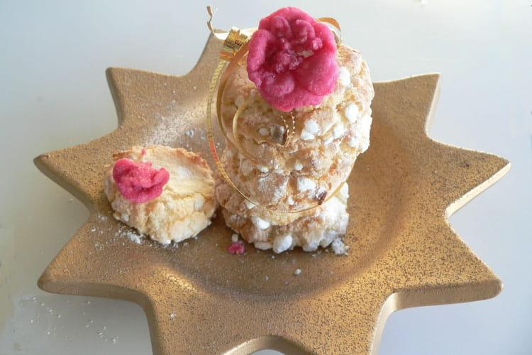 Amarettis aux amandes et parfum de rose