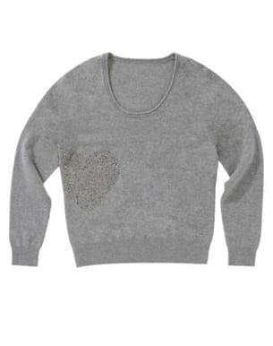 pull gris à strass de 1.2.3