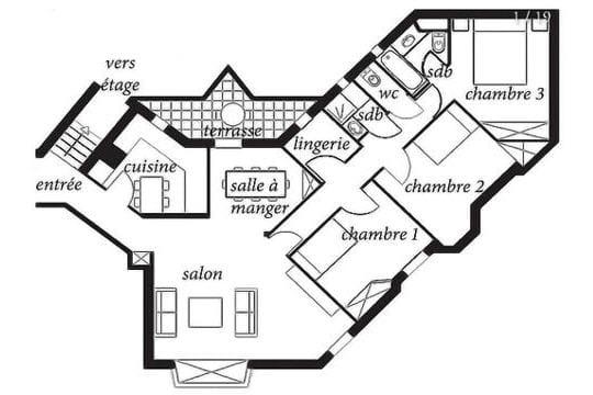 Le plan de l'appartement actuel