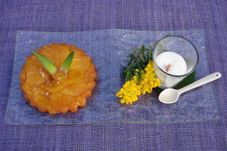 Tatin d'ananas, émulsion coco