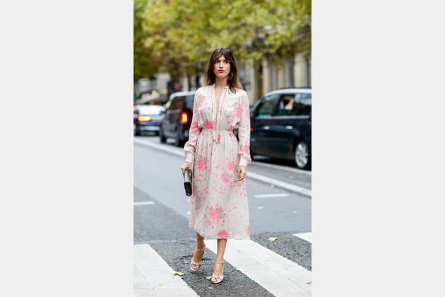 Jeanne Valentino En Ceinturée Damas Robe Fleurie CoxBerd
