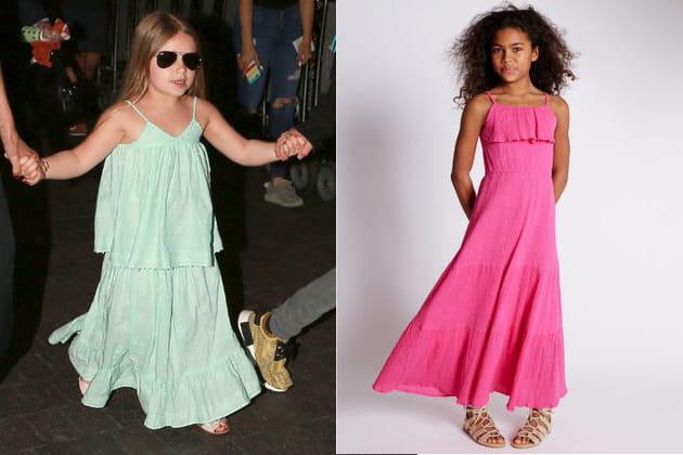 Une robe longue pour la fille de Victoria Beckham