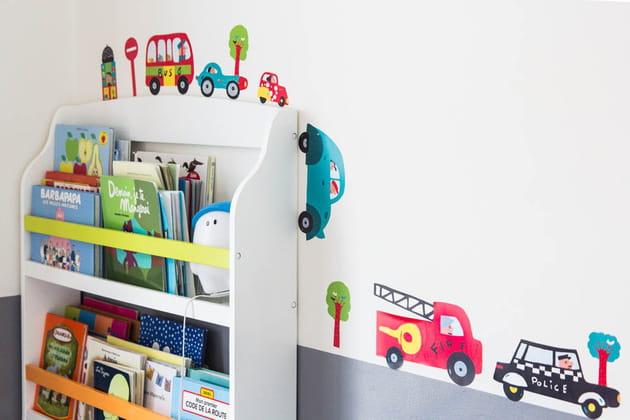 Des stickers rigolos dans la chambre d'enfant