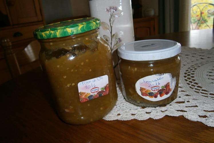 Confiture de tomates vertes aux épices