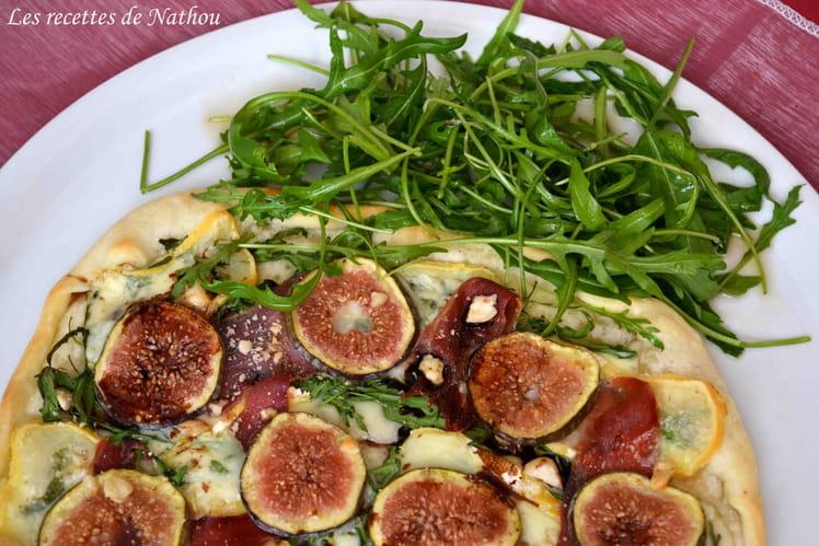 Pizza aux figues et Reblochon