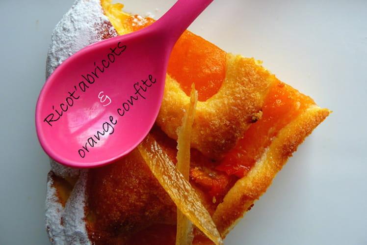 Tourte ricotta aux abricots et orange confite
