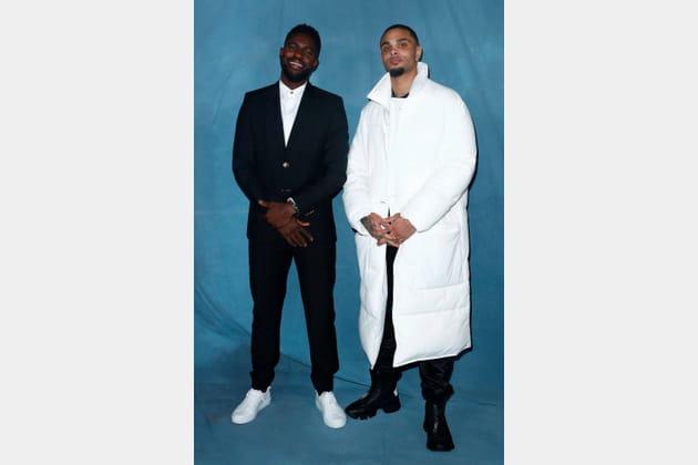 Samuel Umtiti et Layvin Kurzawa au défilé Givenchy