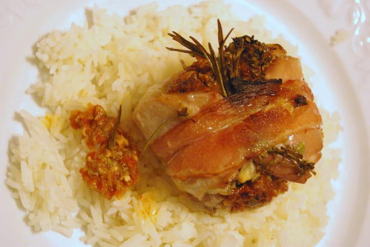 Paupiettes de lapin la pur e de tomates s ch es - Cuisiner les morilles sechees ...