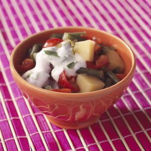 curry de pommes de terre et haricots verts