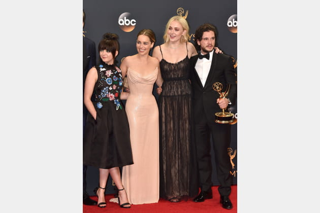 Maisie Williams, Emilia Clarke, Sophie Turner et Kit Harington