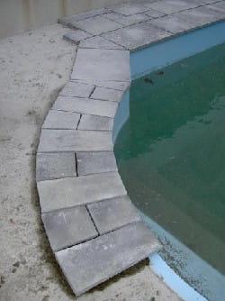 le bain romain a nécessité un gros travail de réflexion, puis de mise à façon