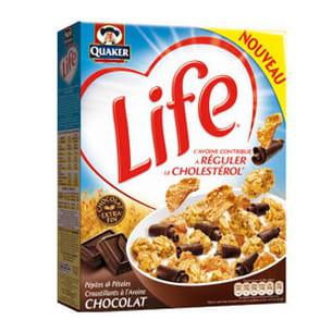 les céréales life aux pépites de chocolat qui régulent le cholestérol