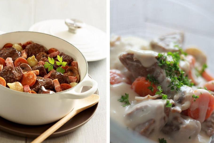 Bœuf bourguignon VS blanquette de veau