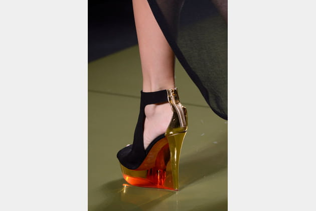 Les sandales compensées du défilé Balmain
