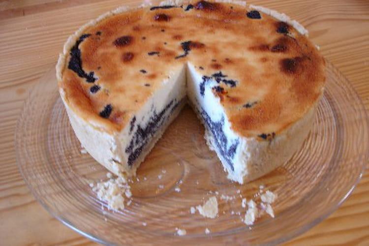 Tarte au fromage blanc et au pavot