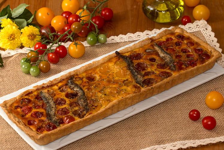 Taret multicolore aux tomates cerises et anchois