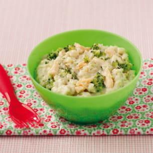 risotto au brocoli et au saumon