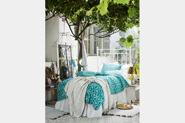 parure housse de couette turquoise. Black Bedroom Furniture Sets. Home Design Ideas