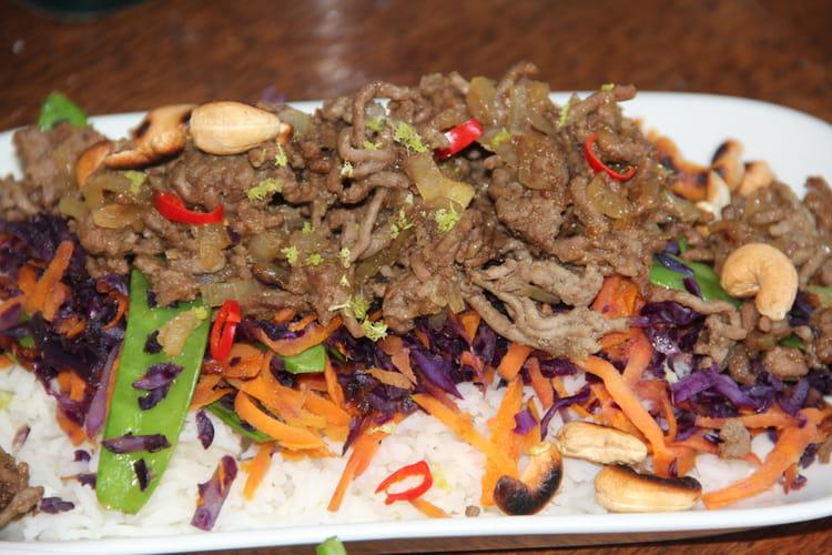 Sauté de bœuf haché à la thaï