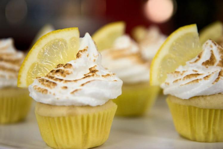 Cupcakes coeur citron meringués
