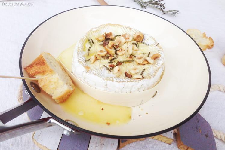 Camembert Gratiné Noisettes Miel Romarin