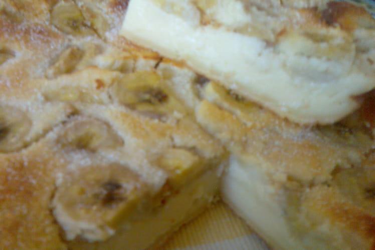 Clafoutis bananes, chocolat blanc et coco