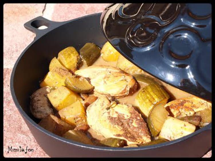 Tajine de courgettes au poulet - Cuisson tajine au four ...