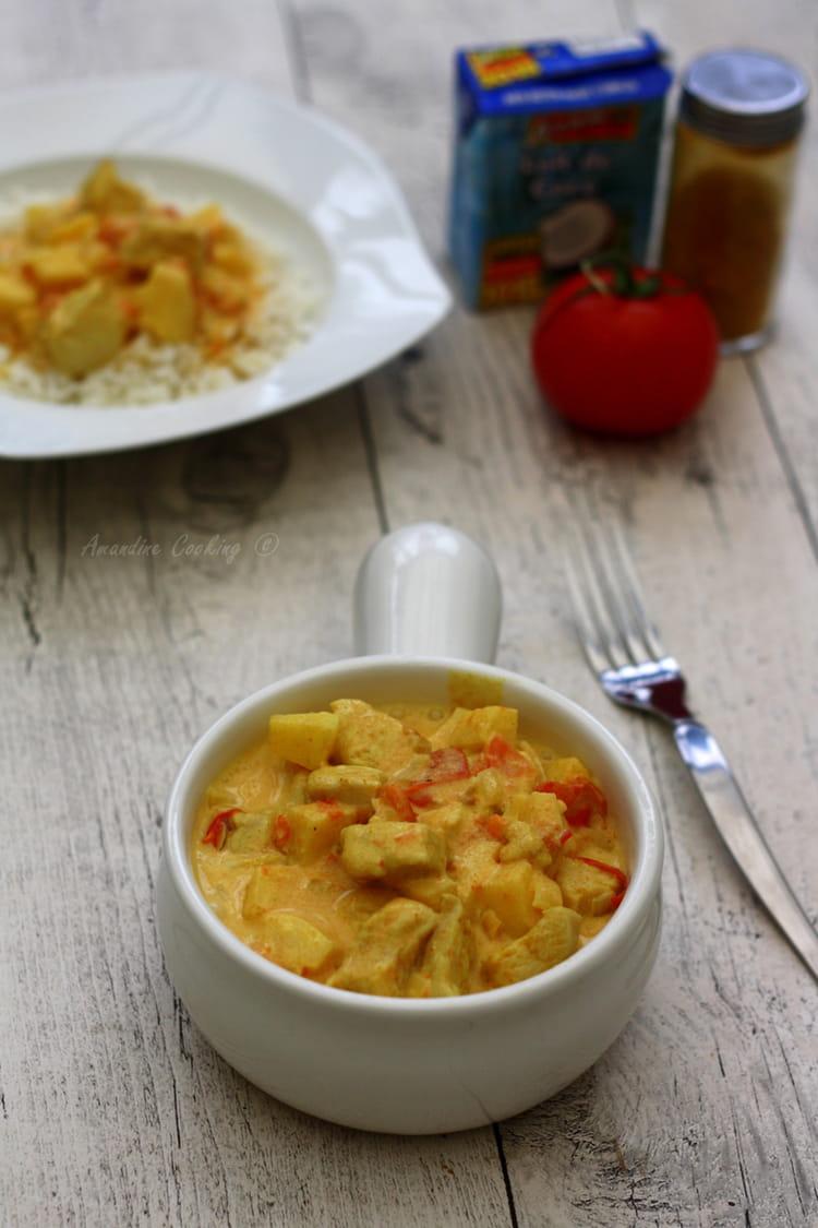 Poulet Au Curry Lait De Coco Et Pommes