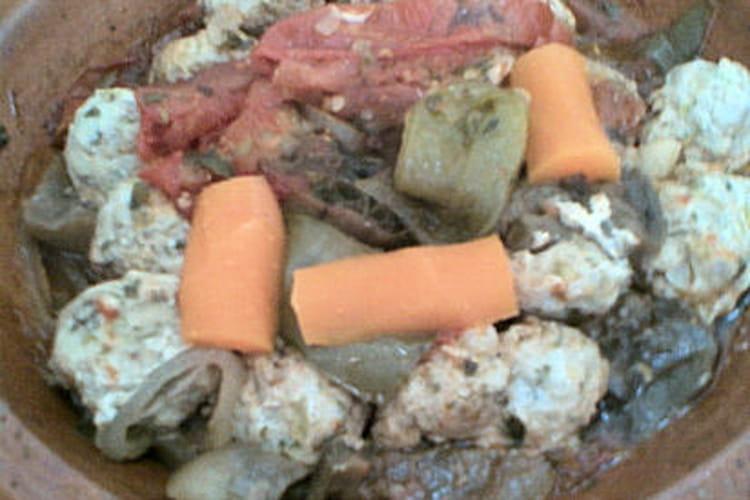 Boulettes de poisson en sauce