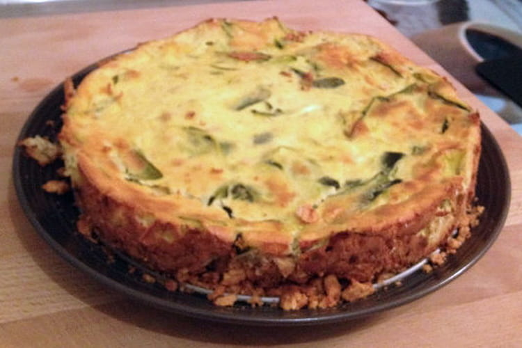 Cheesecake chèvre courgettes