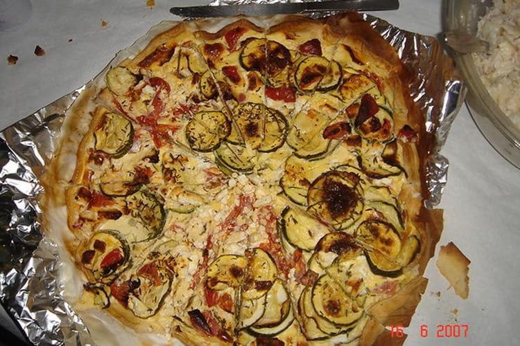 Tarte courgettes-tomates-feta