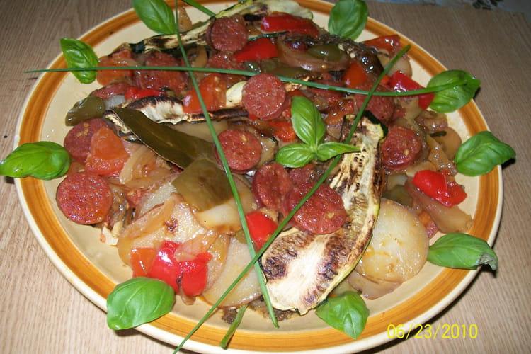 Chorizo aux 5 légumes de saison