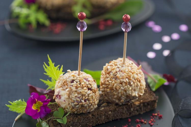 Truffes de Boursault, Cranberry et sésame grillé