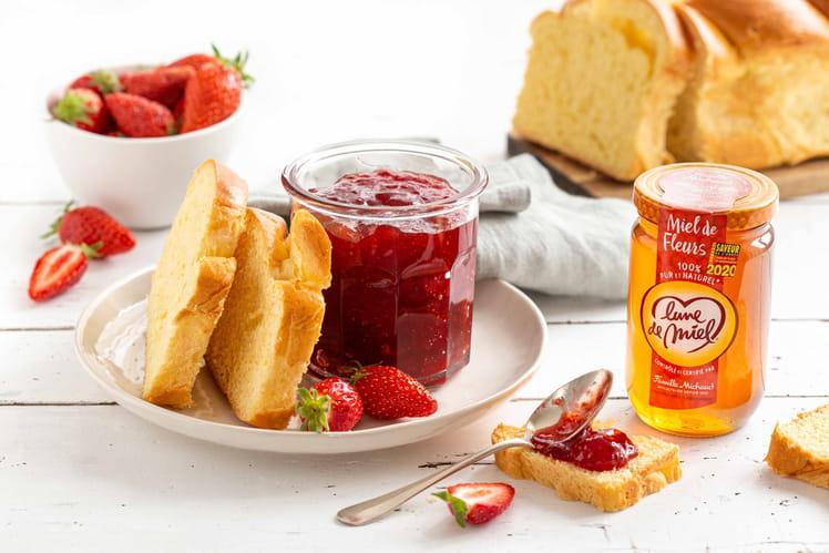 Confiture de fraises au Miel de Fleurs Lune de Miel