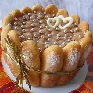 charlotte aux pommes et au caramel au beurre salé