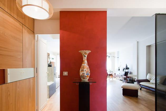 Petit loft zen : hall d'entrée