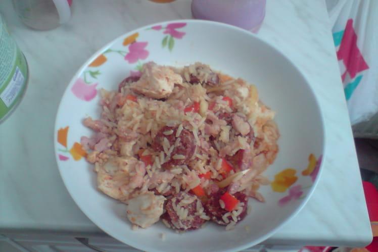 Marmite de poulet au riz espagnol