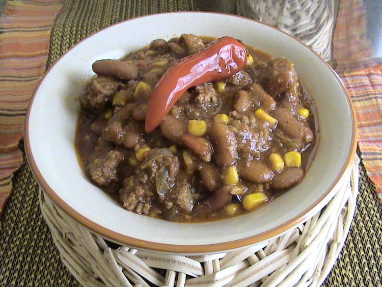 Recette de chili con carne cocotte la recette facile - Recette chili cone carne thermomix ...
