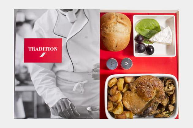 Le menu Tradition pour 18€ supplémentaires