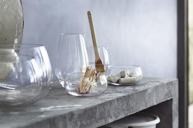 Coupelles en verre soufflé